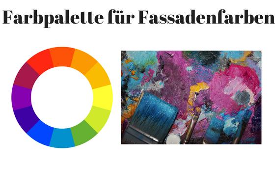 Farbepalette Fassadenfarbe